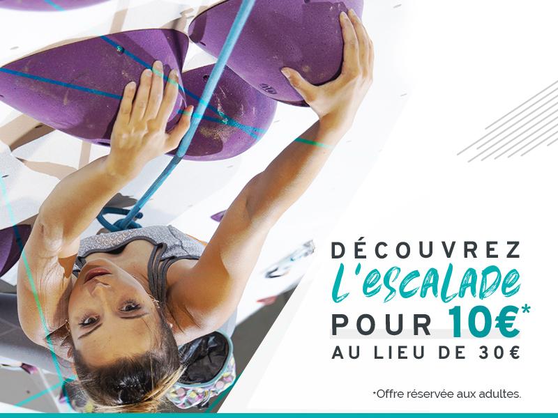 Offre cours découverte escalade à 10€ à Climb Up Lyon Gerland